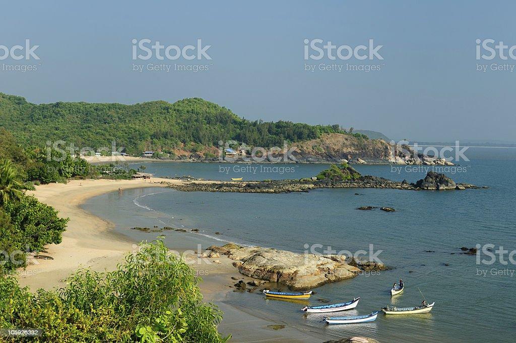 India - OM Beach The most beautifull beach (OM beach) in India near Gokarn city. Karnataka.  Asia Stock Photo