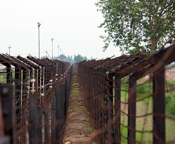 India - Pakistan Border in Wagah stock photo