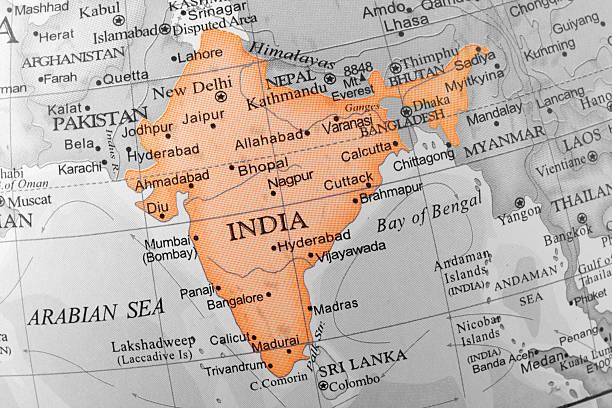 índia - mapa mundi imagens e fotografias de stock