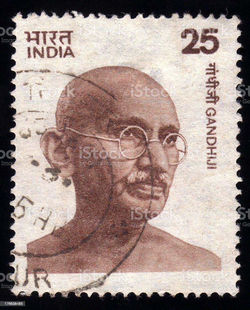 インドの郵便切手マハトマガンジー アジア大陸のストックフォトや画像