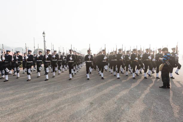 India Prepare for 69th Republic Day Celebrations 2018 stock photo