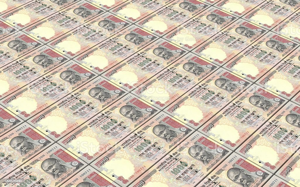 India Rupee bills stacks background. stock photo