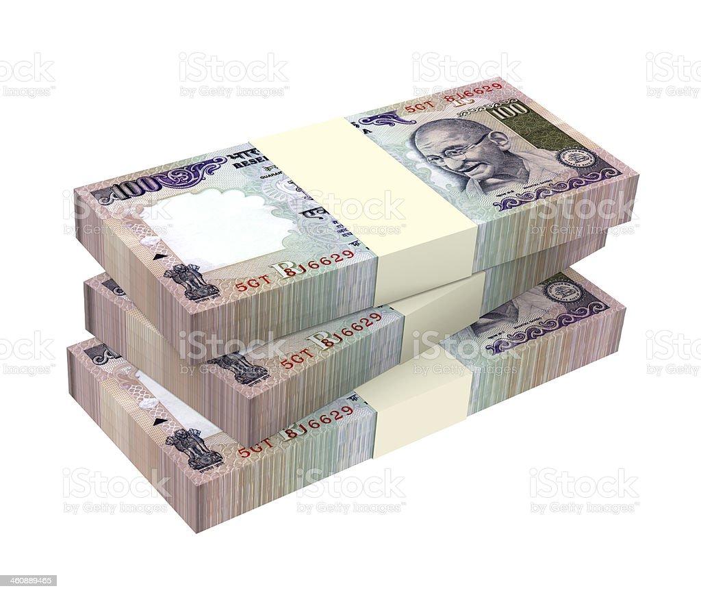 India Rupee isolated on white background stock photo