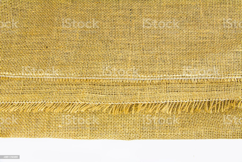 India Sack Close up texture background stock photo