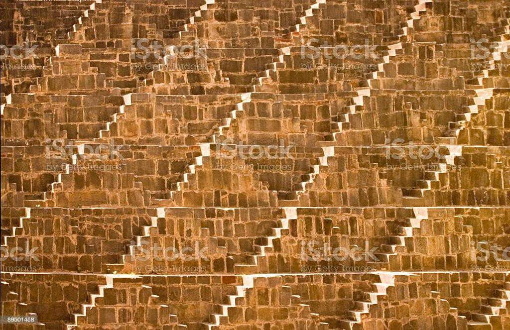 India: Step well near Agra royaltyfri bildbanksbilder