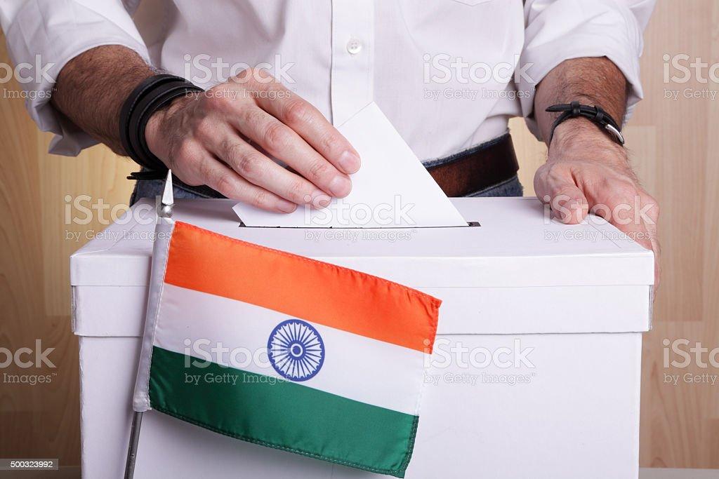India to vote stock photo