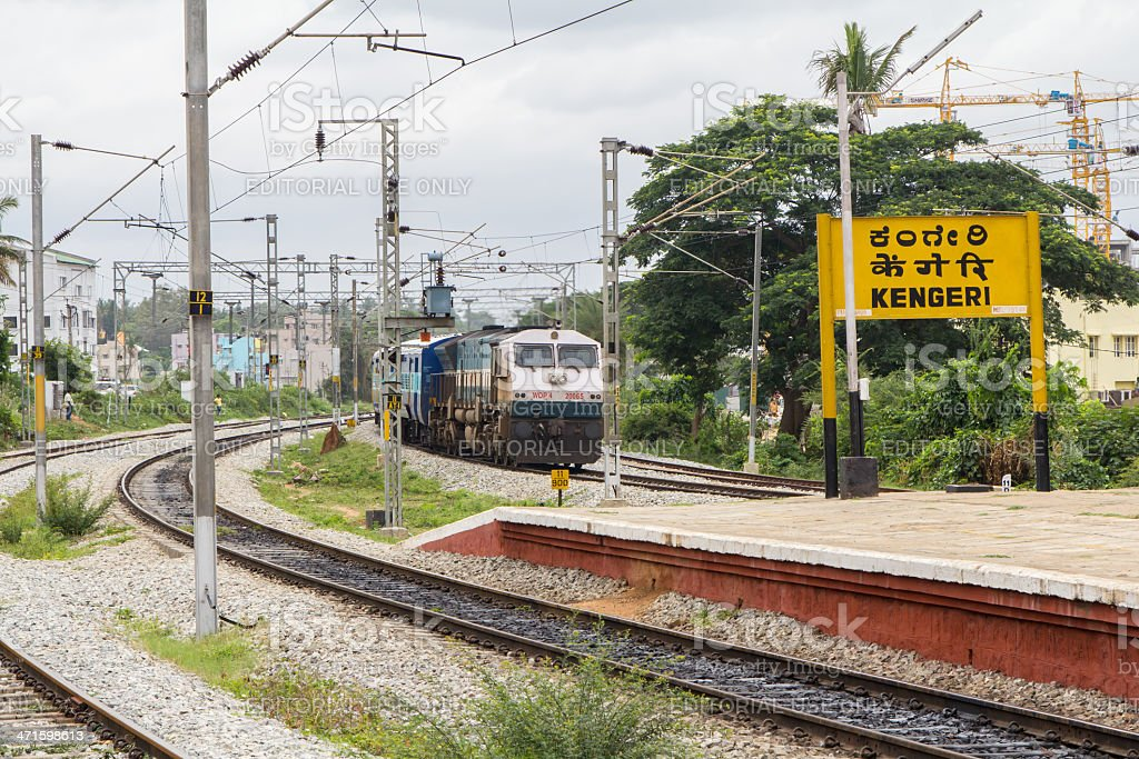 India train at station royalty-free stock photo