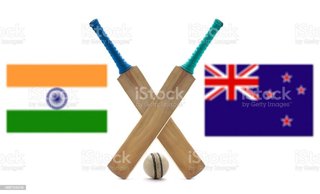 India VS New Zealand stock photo