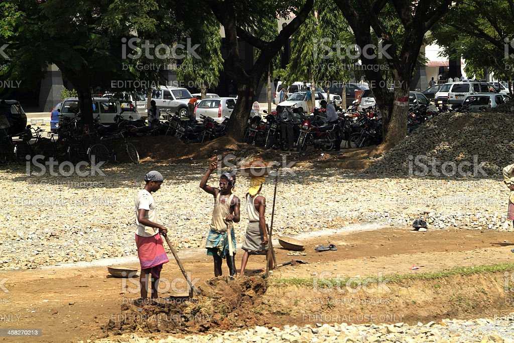 India, workers stock photo