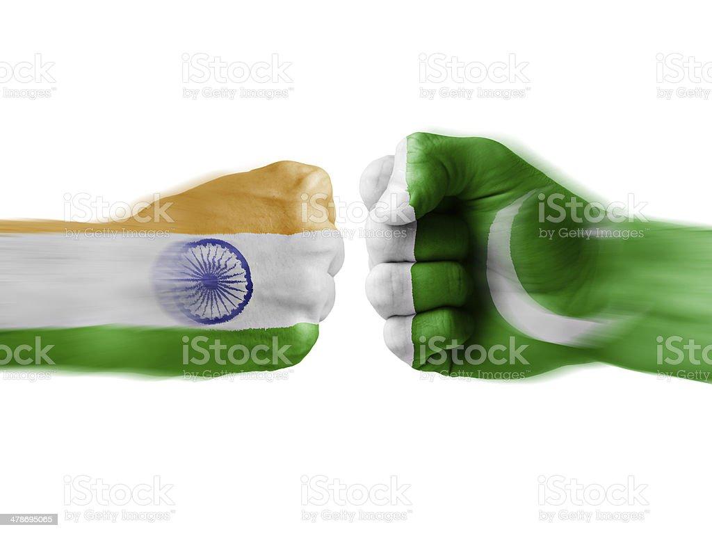 india x pakistan stock photo