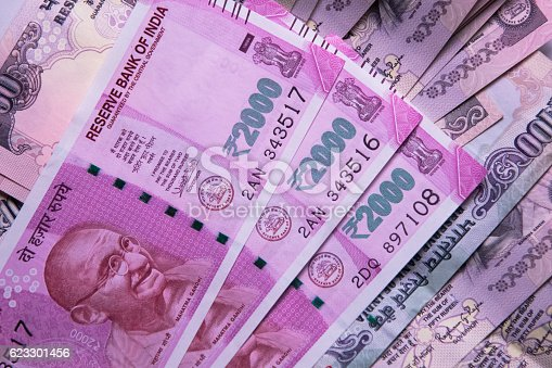 Indian 2000 Rs Currency Note Stock Photo & More Pictures
