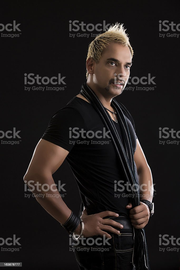 Indian adult with blond hair royalty-free stock photo