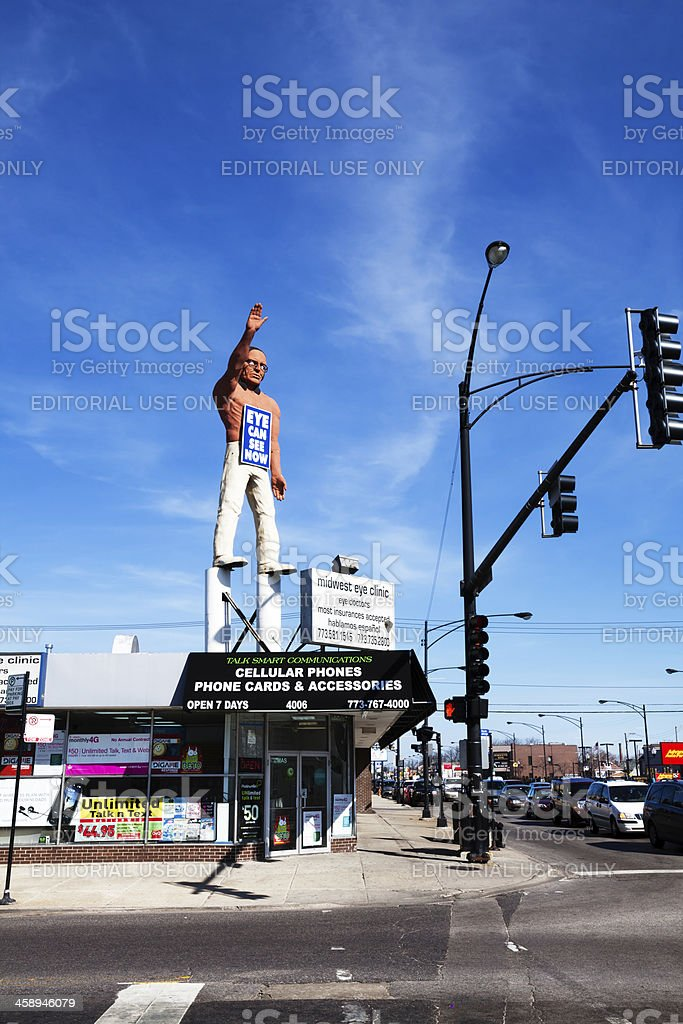 Indian Advertizing Statue in Chicago royalty-free stock photo
