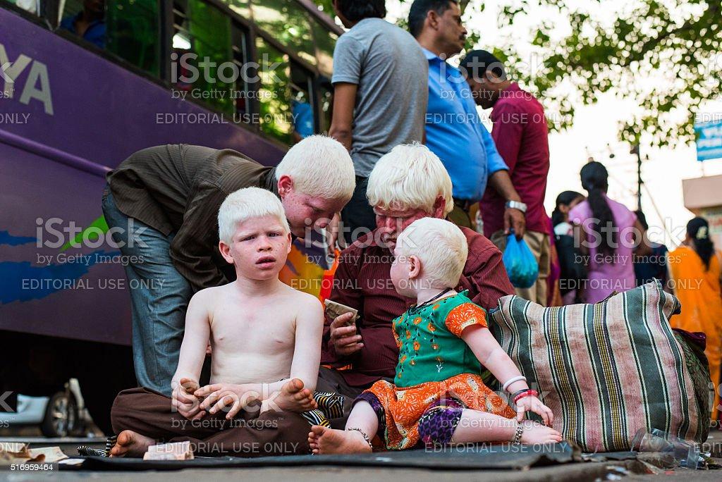 Indian albinos stock photo
