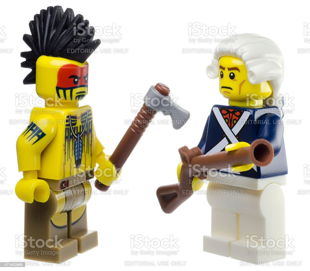 Indian and Continental Soldier Lego Mini Figures royalty-free stock photo