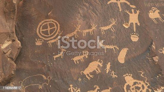 istock indian art and symbols on newspaper rock in utah 1163658817
