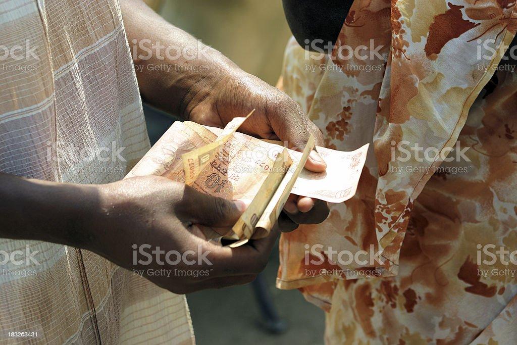 Indian bankbills royalty-free stock photo
