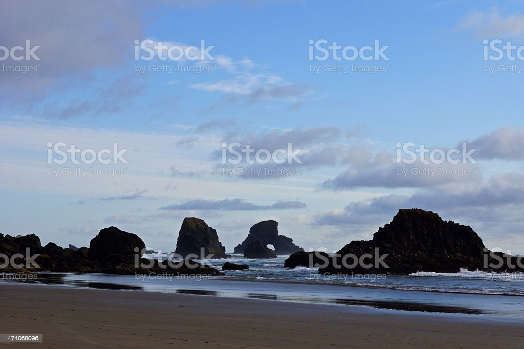 Indian Beach Rocks stock photo