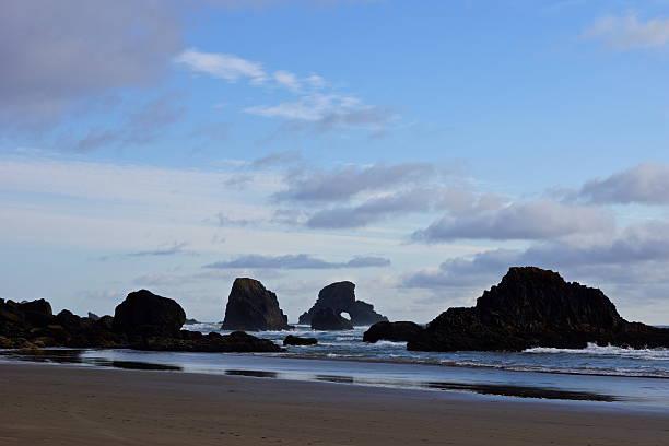 Indian Beach Rocks stock photo