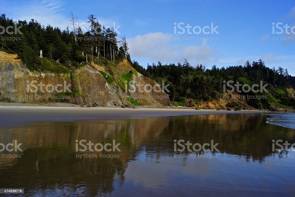 Indian Beach Wall stock photo