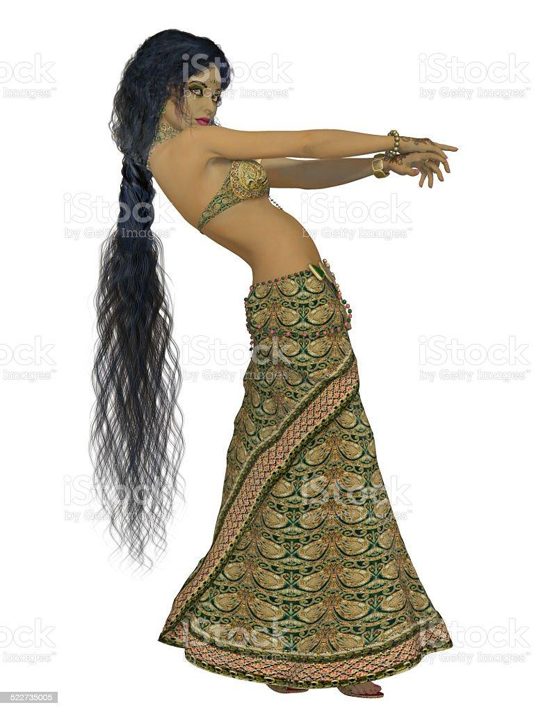 Indian beautiful young woman stock photo