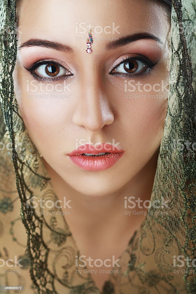 Indian beauty face stock photo