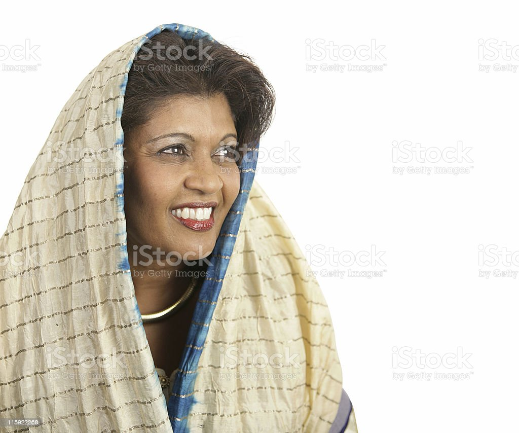 Indian Beauty Looks To Future royalty-free stock photo