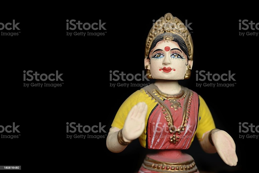 Indian Bharatnatyam Dancer Model stock photo