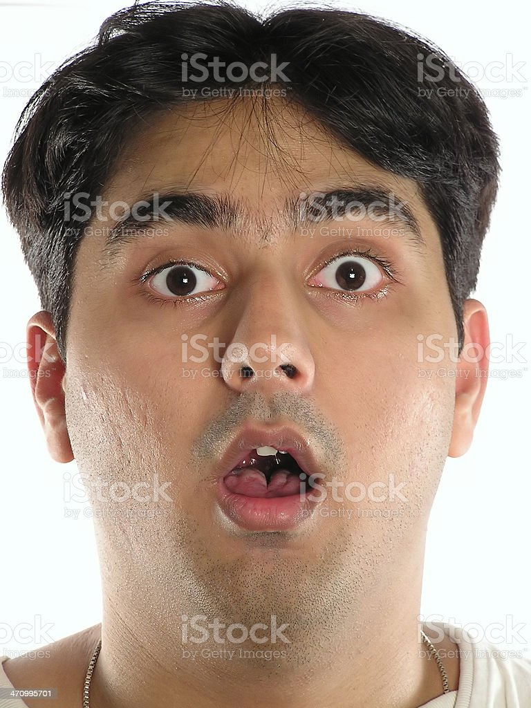 Indian boy surprised royalty-free stock photo