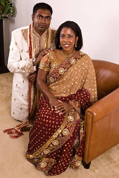 Indian Bridal Couple stock photo