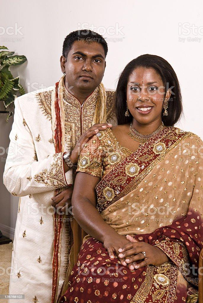 Indian Bridal Couple stock photo