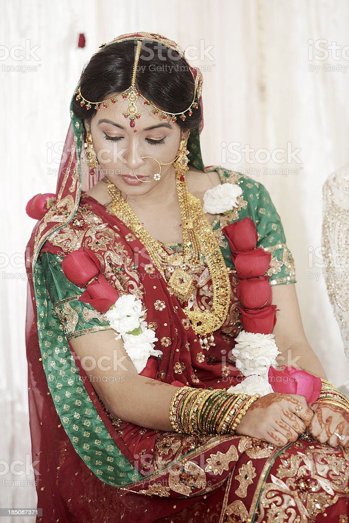 Indian Bride at Her Wedding stock photo