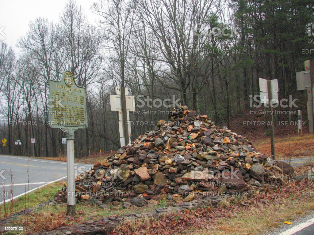 Indian burial site of Trahlyta in Northern Georgia stock photo