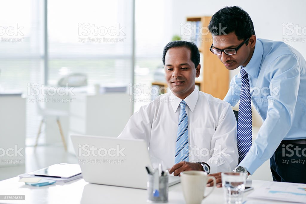 Indian business team stock photo