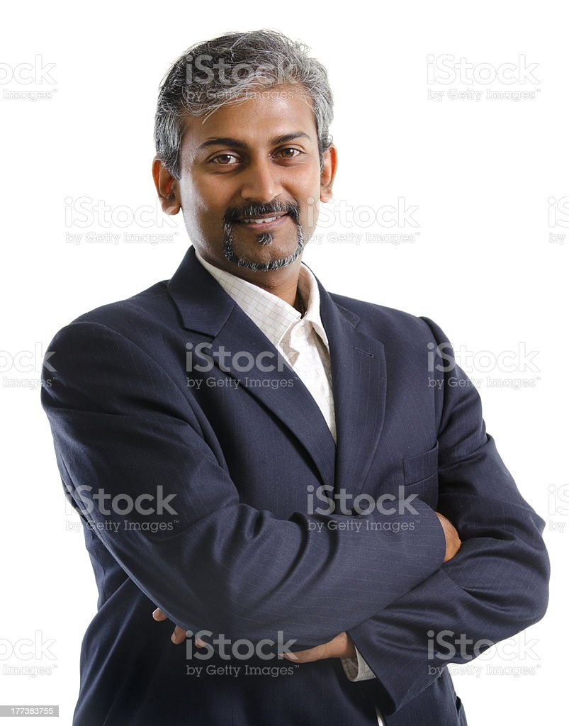 Indian businessman stock photo