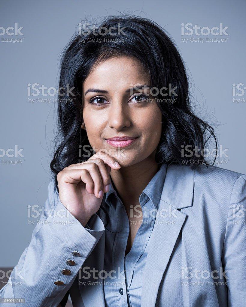 Indian businesswoman portrait stock photo