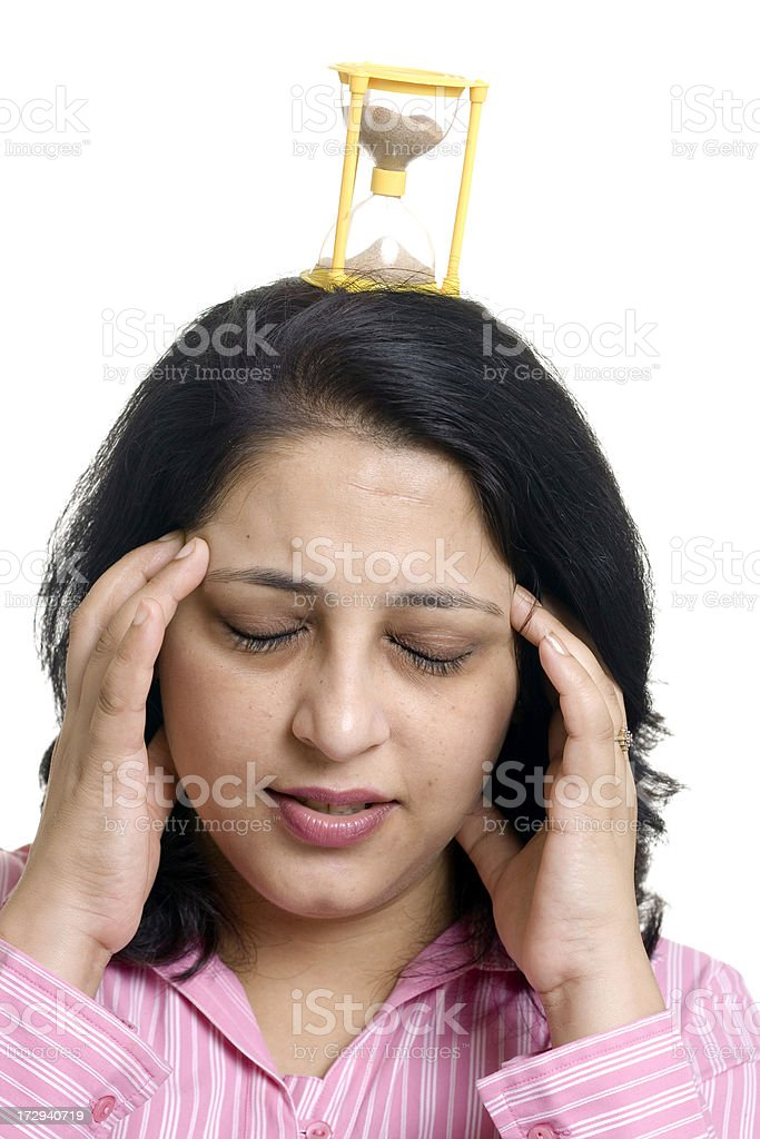 Indian businesswoman under deadline pressure royalty-free stock photo