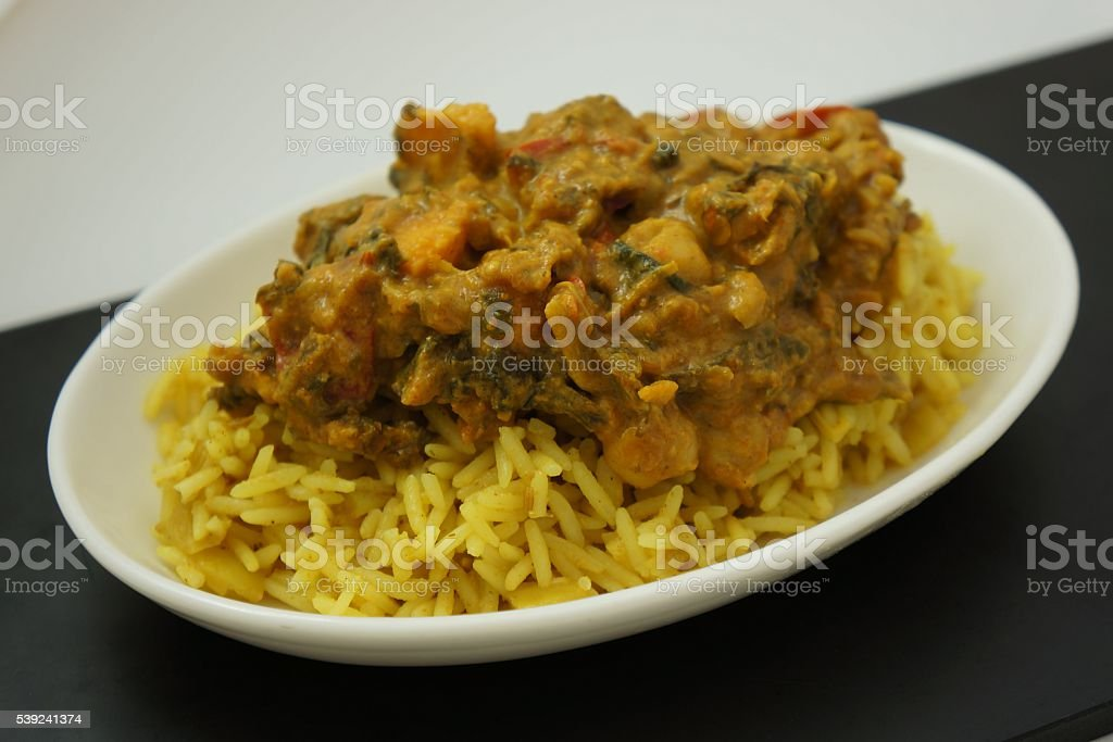 Indian Butternut Squash & Chick Pea Curry royalty-free stock photo