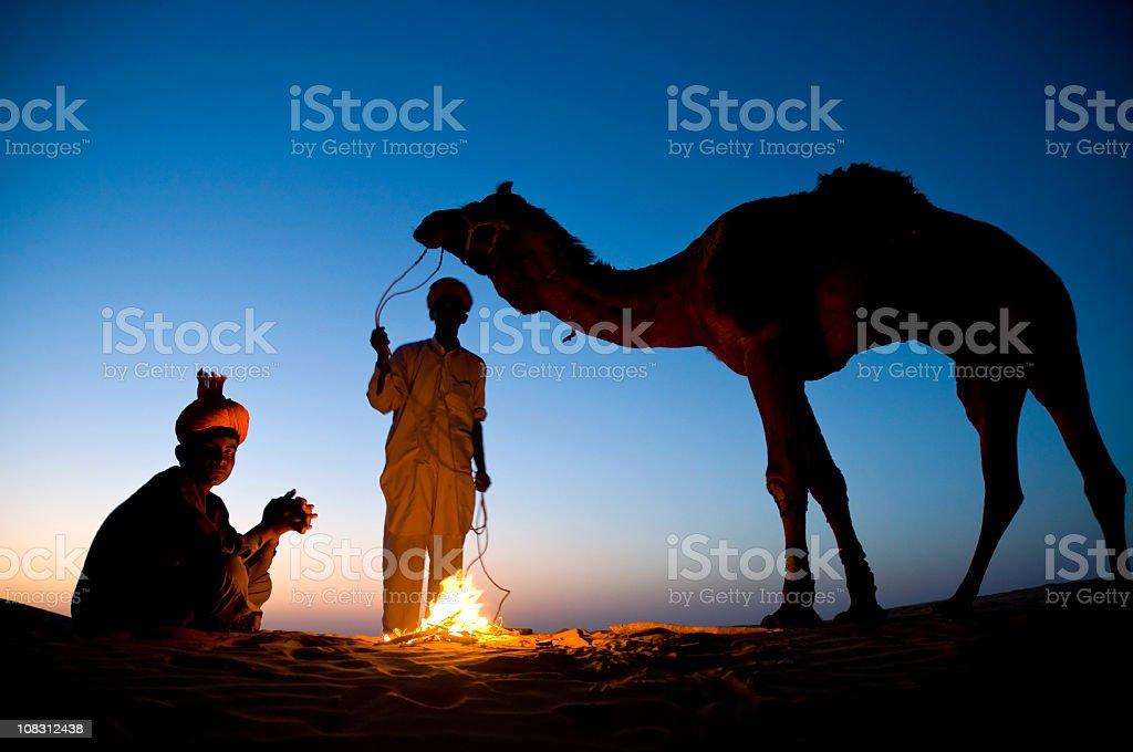 Indian Camel Safari stock photo