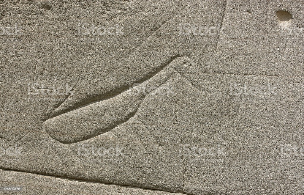 Indian Carving of Horse stock photo