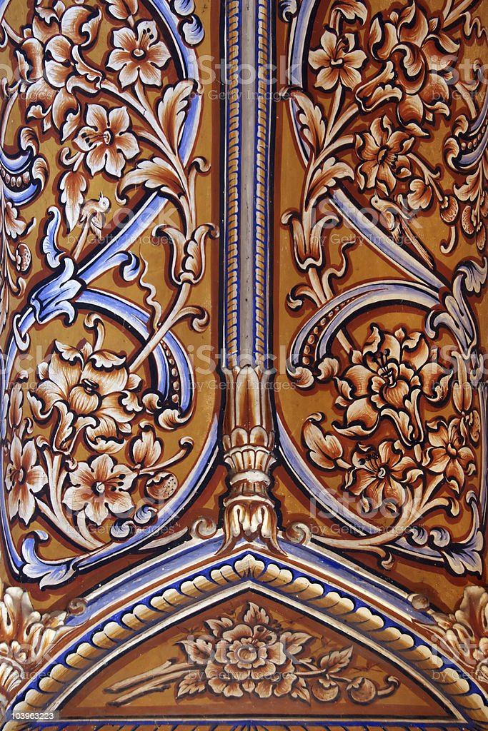 Indian ceiling ornaments in Jaipur royalty-free stock photo