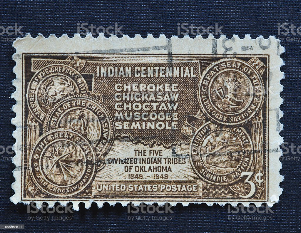 Indian Centennial 3 cent stamp royalty-free stock photo