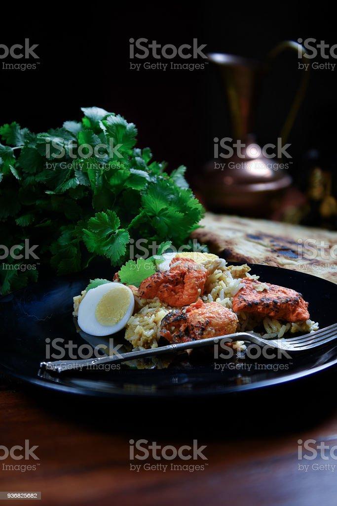 Indian Chicken Biryani stock photo