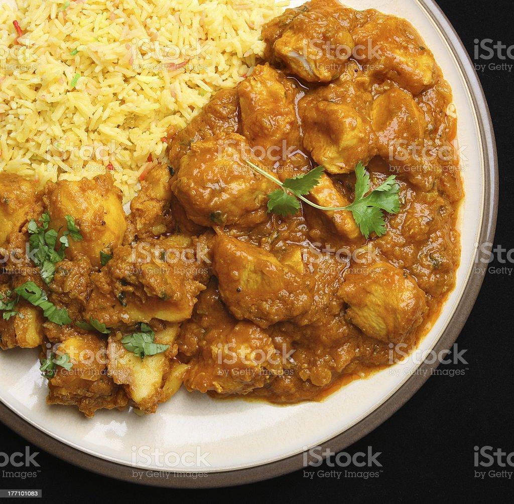 Indisches Curry Mahlzeit Huhn Stockfoto Und Mehr Bilder Von Ansicht