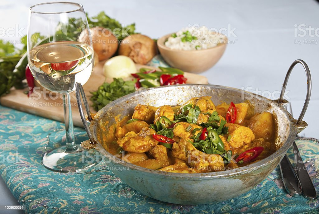 Indische curry-Huhn – Foto