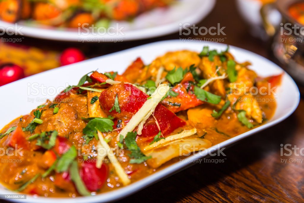 Indian Chicken Jalfrezi Curry Stock Photo More Pictures Of Balti