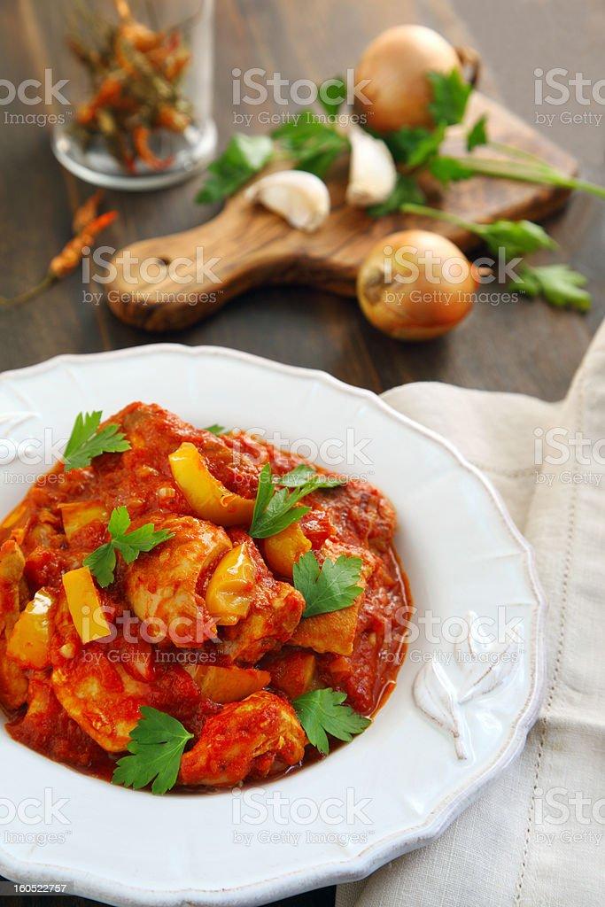 Indian chicken Jalfrezi stock photo