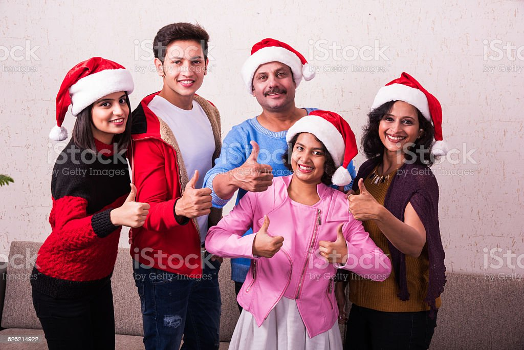 indian christian family celebrating christmas royalty free stock photo