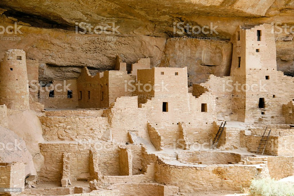 Indian city at Mesa Verde stock photo