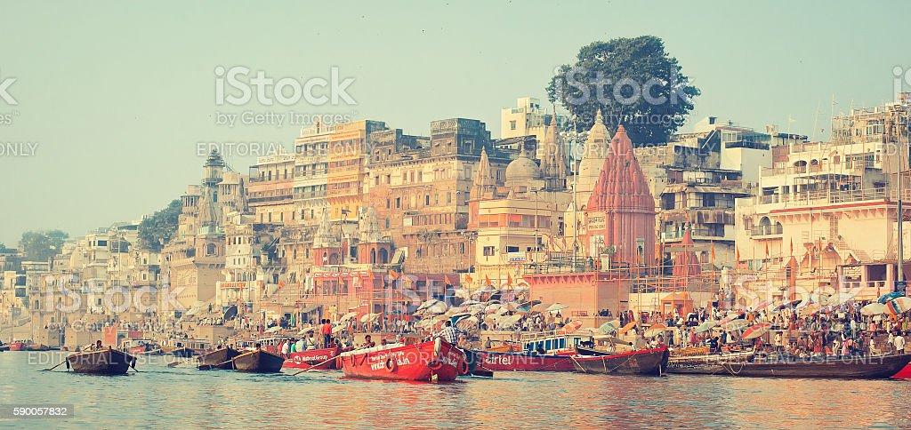 Indian city Benares(Varanasi). stock photo
